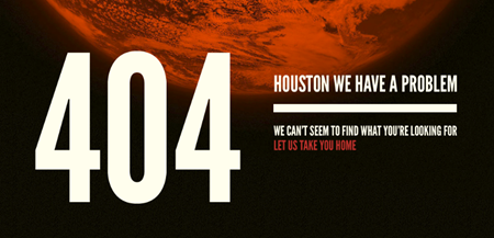 Houston we have a problem 404 error