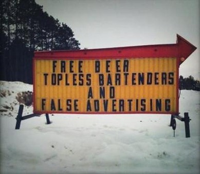 Free Beer and False Advertising