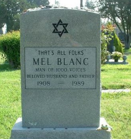 Mel Blanc's That's All Folks tombstone