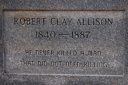 He never killed a man that did not need killing tombstone
