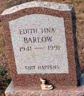 Shit happens tombstone