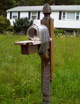 Soda pop bottle mailbox