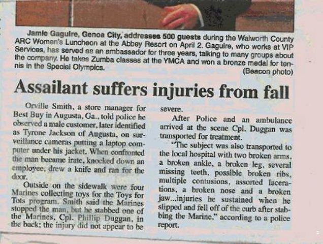 Criminal Suffers Injuries From Fall