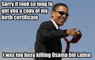 Obama - Sorry it took so long