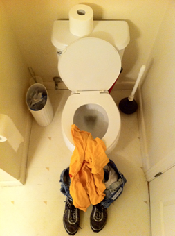 End of world while on toilet
