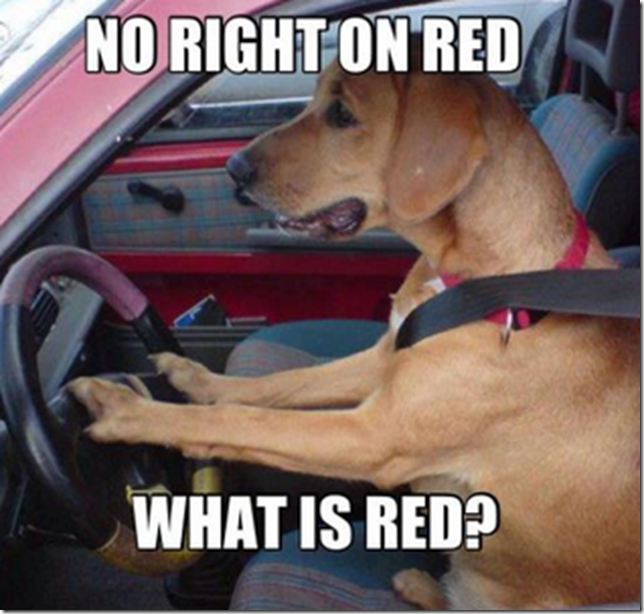 No right on red - what is red?