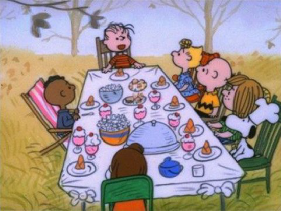 Racism in a Charlie Brown dinner?