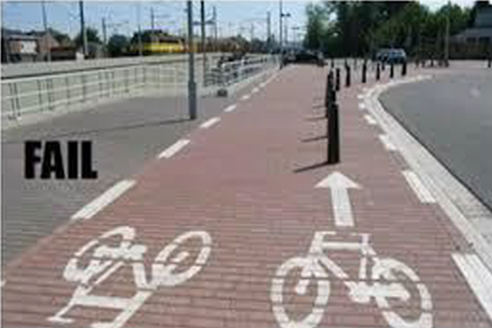 Bicycle lane fail