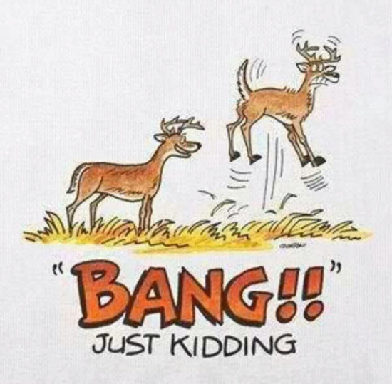 Bang! Just kidding… deer scare