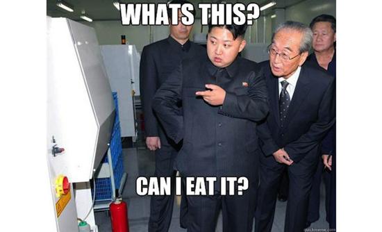 Kim Jong-un meme - Whats this?  Can I eat it?