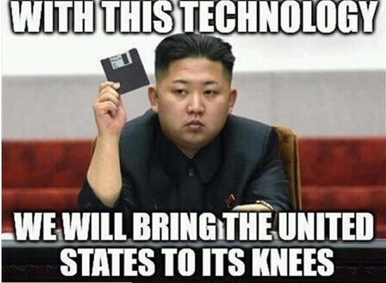 Kim Jong-un meme - With this technology we will bring the United States to its knees