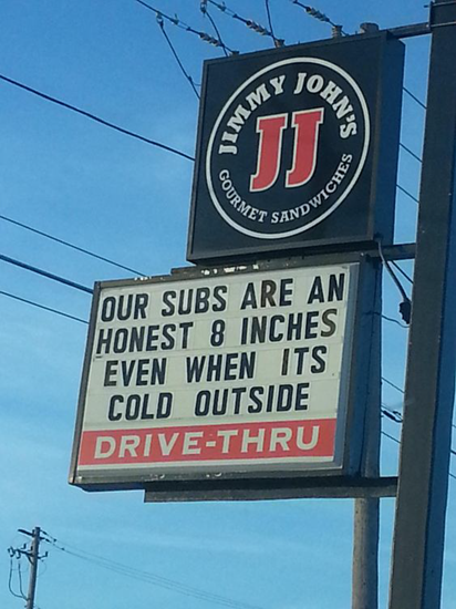 Our subs are 8 inches
