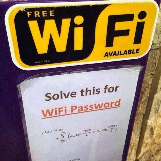 Why sure we have free Wi-Fi available