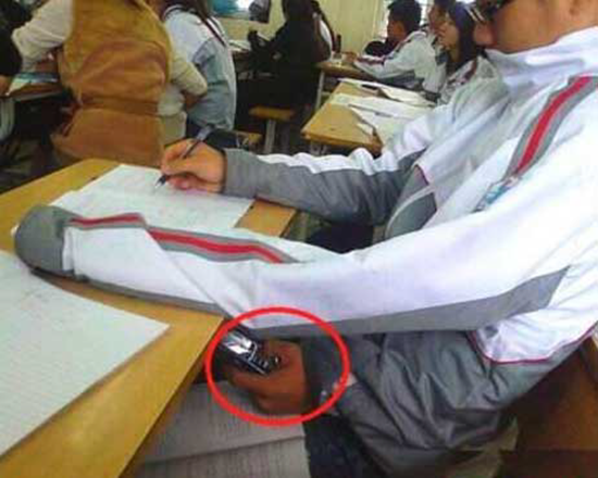 Ingenious method to cheat on tests using cellphone