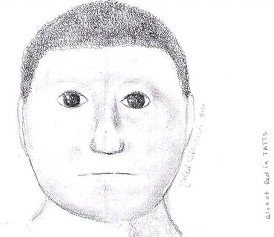 Bad police sketch - round head man