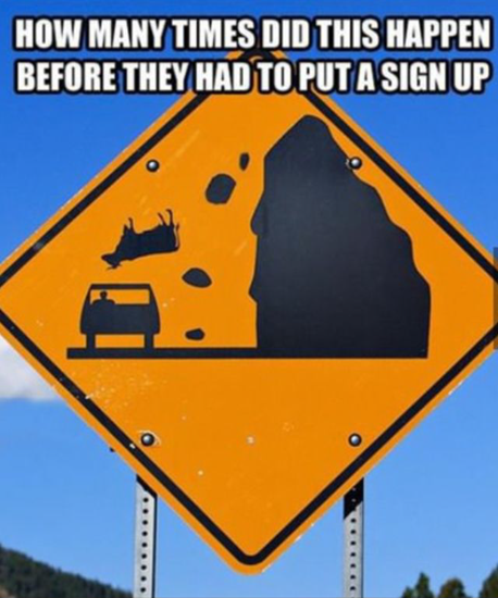How many times did this happen before they put up a sign