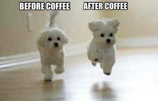 Before coffee–after coffee