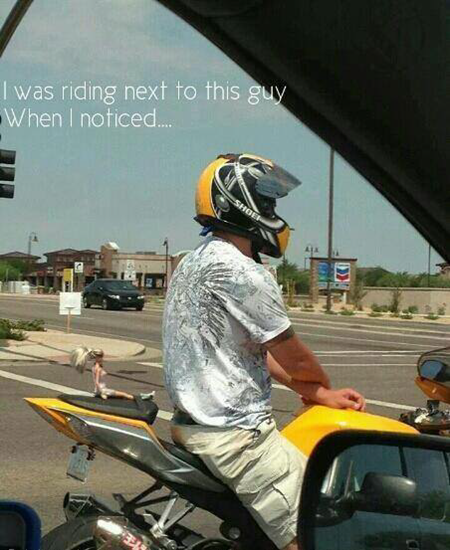 I was riding next to this guy and noticed…