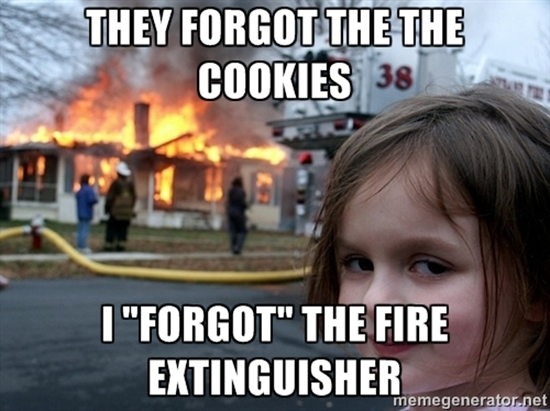 They forgot the cookies…