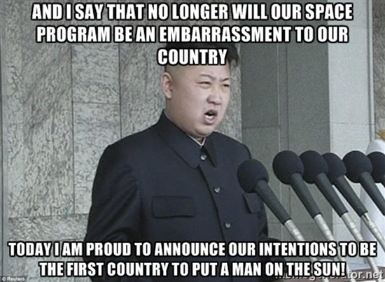 North Korea - No longer will our space program be an embarrassment to our country