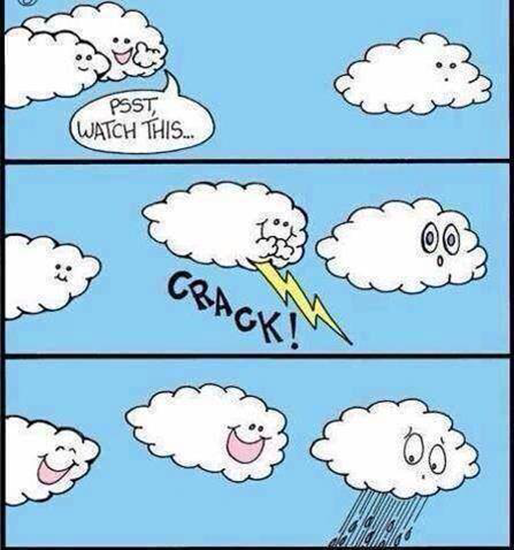 So that's how rain is made…