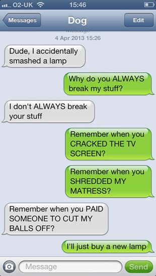 If your dog could text you–part 1