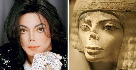 Michael Jackson compared to Egyptian status with broken nose