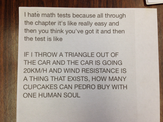 This is why I hate math
