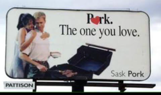 Funny sign–pork