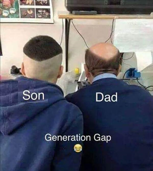 Funny father and son haircuts