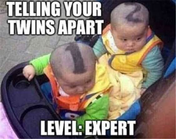 How to tell your twins apart