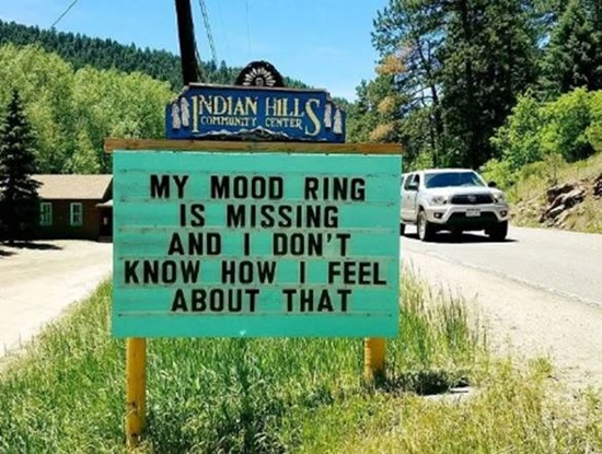 My mood ring is missing and I don't know how I feel about that
