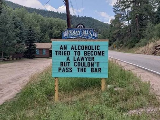 An alcoholic tried to become a lawyer but couldn't pass the bar